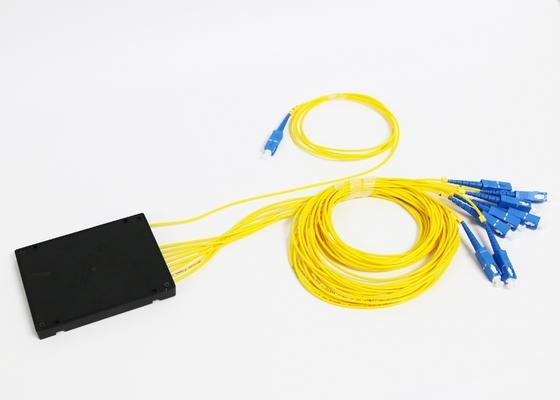 SM FC SC ST LC 섬유 커넥터를 가진 1*8 광섬유 PLC 분배기