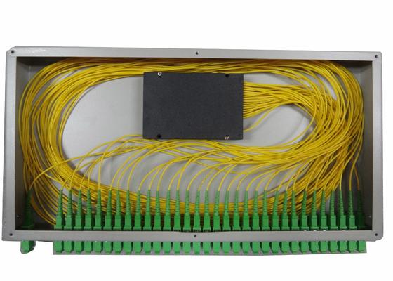 랙 마운트 광섬유 터미널 박스를 위해 1x16 PLC 광섬유 분배기