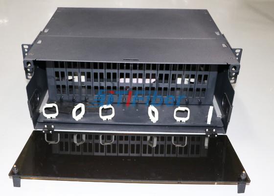 MTP / MPO 섬유 카세트 모듈을 위해 4U 슬라이드 광섬유 패치 패널