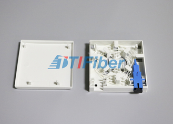 SC / LC 광섬유 어댑터 광섬유 스플 라이스 박스 2 포트 소켓 패널